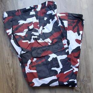 Other - Men's camo cargo Paratrooper battle pants